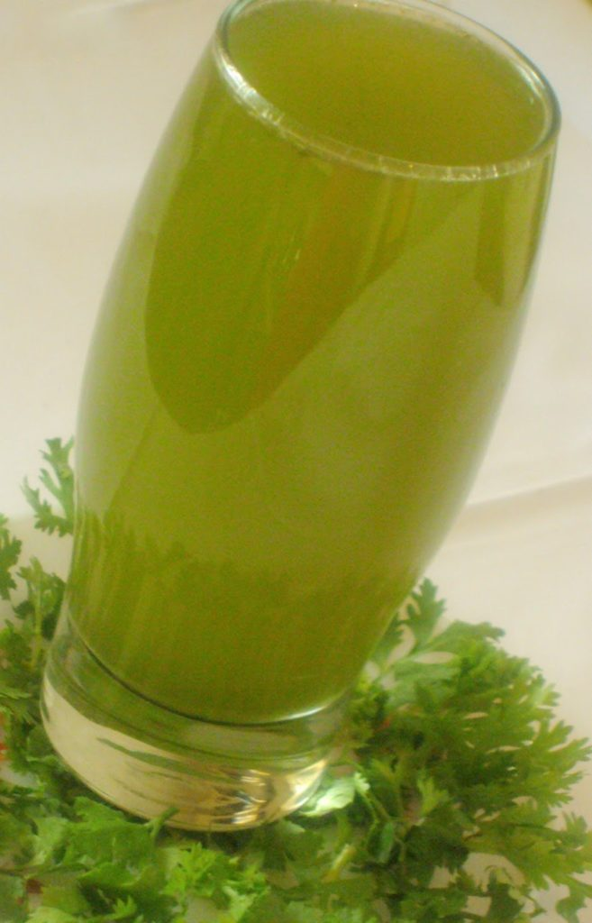 Coriander juice to lose weight easily!